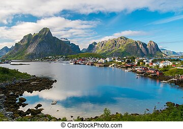 View over Reine village, Norway