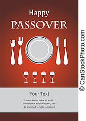 Jewish Passover holiday Seder invitation Vector illustration...