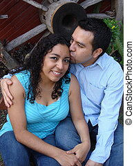 hispanic, 夫婦, 年輕