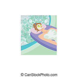 Abstract card - relax in the spa
