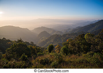 view point , doi angkhang , chiangmai , thailand