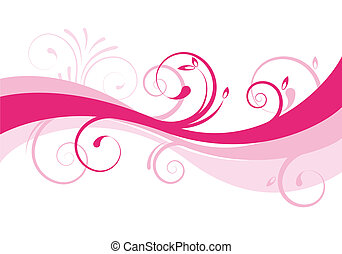abstract floral background - pink abstract floral background...