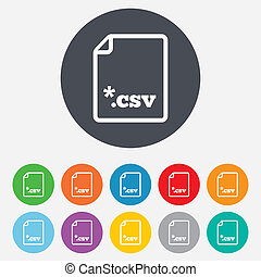 File document icon. Download CSV button. - File document...