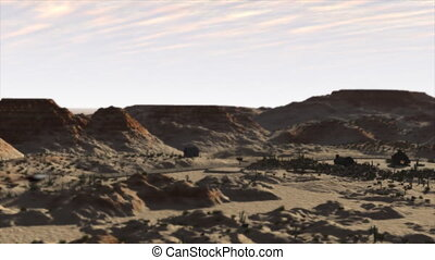 Desert Flyover - 3d Animation of a journey over a desert...