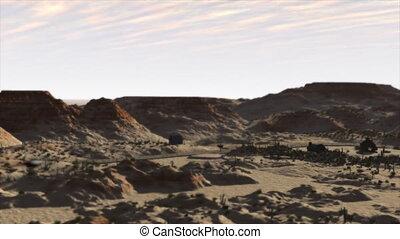 Desert Flyover - 3d Animation of a journey over a desert...