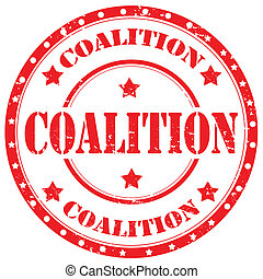 Coalition-stamp - Grunge rubber stamp with text...