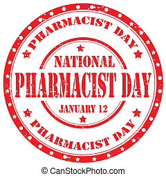 Pharmacist Day-stamp - Grunge rubber stamp with text...