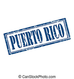 Puerto Rico-stamp - Grunge rubber stamp with text Puerto...