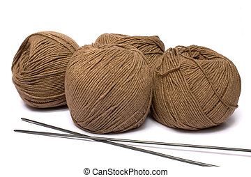 Yarn and spokes for knitting