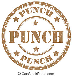 Punch-stamp - Grunge rubber stamp with word Punch,vector...