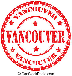 Vancouver-stamp - Grunge rubber stamp with text...