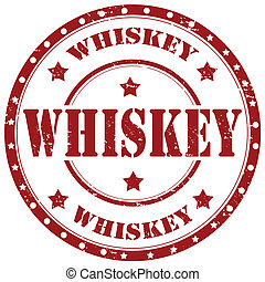 Whiskey-stamp - Grunge rubber stamp with word Whiskey,vector...