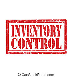 Inventory Control-stamp - Grunge rubber stamp with text...
