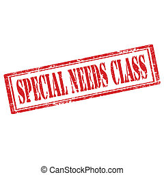 Special Needs Class-stamp - Grunge rubber stamp with text...