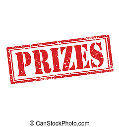 Prizes-stamp - Grunge rubber stamp with word Prizes,vector...