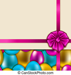 Seamless vector easter background