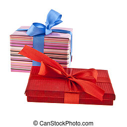 gift box isolated on white background - red gift box with...