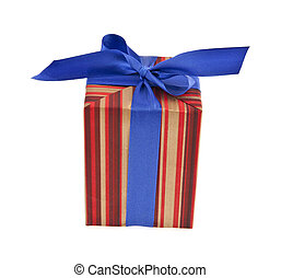 box gift on a white background
