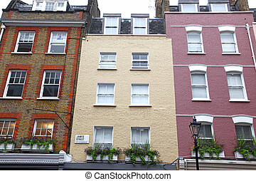 Old colors house in James street in London, UK