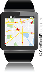 Smart watch - Smartwatch with GPS Map Directions and apps...