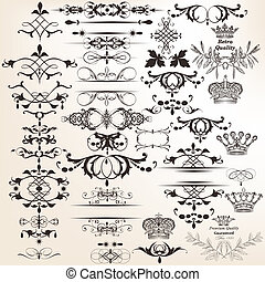 Collection of vector decorative elements for design - Vector...