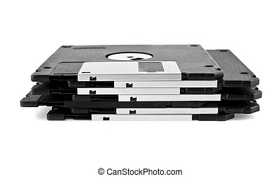 diskettes are isolated on a white background