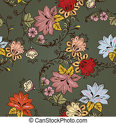 Floral seamless vector pattern - Vintage vector seamless...