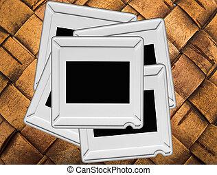 slides - the slides on an old wooden background
