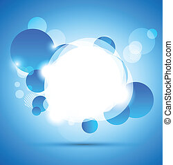 Abstract colorful background with blue circles