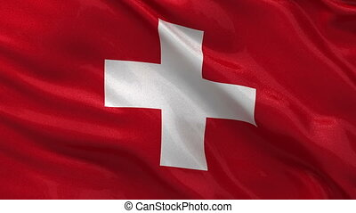 Flag of Switzerland - seamless loop