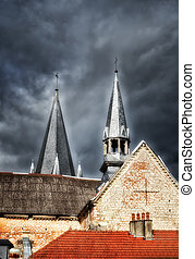 the church steeples