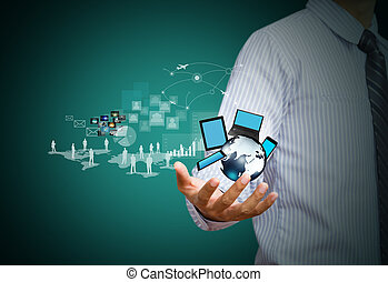 Wireless technology, social media - Modern wireless...