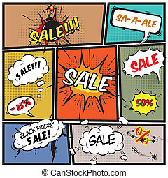 Comic best offer sale promotion bubbles - Comics best offer...