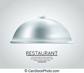 Restaurant cloche food tray to serve dish meal restaurant...