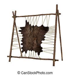 Animal Fur - 3D digital render of a native American rack...