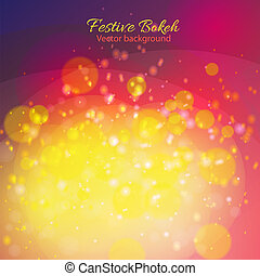 Abstract festive bokeh. Vector background