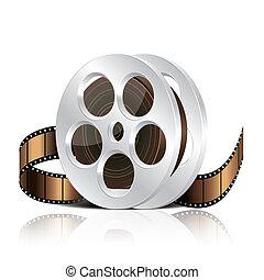 Film reel vector illustration - Film reel isolated on white...