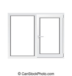 White plastic window vector illustration - White plastic...