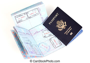 US Passport: London, Rome, Frankfurt - US passports with...