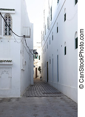 Narrow alley in Assila, Morocco - Very narrow alley in...