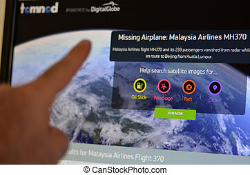 Tomnod - Malaysia Airlines Flight 370 - AUCKLAND - MAR 21...