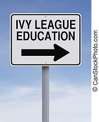 Ivy League Education - A modified one way street sign...