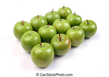 12 Apples - A dozen apples in a symmetrical pattern