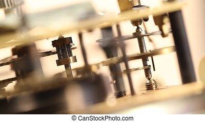 ClockMechanism - Close up of a internalclockmechanism