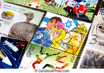 Collection of israeli stamps - ISRAEL - CIRCA...