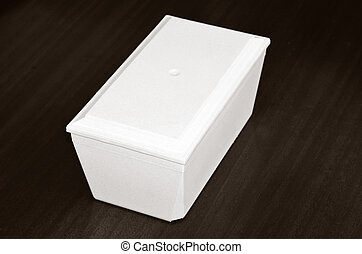 Funeral urn - White funeral urn in coffin shape complete...
