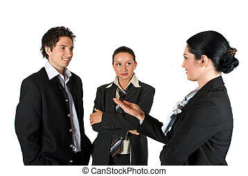 Meeting business people - Business people have a meeting and...