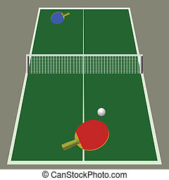 ping pong game - colorful illustration with ping pong game...