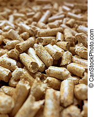 pellets. alternative heating in winter - eco-friendly...