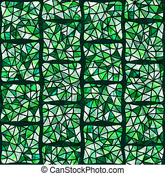 green stained glass window - vector illustration